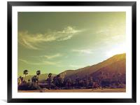 South Palm Springs California, Framed Mounted Print