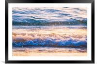 Soft Muted Atlantic Ocean Waves 4184, Framed Mounted Print