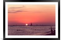 Lovers Sunset in Hawaii 0003, Framed Mounted Print