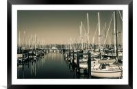 Boats Anchor near Belvedere Lagoon, Framed Mounted Print