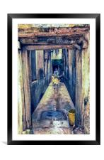 Children Playing - Stonetown Zanzibar 3665 Africa, Framed Mounted Print