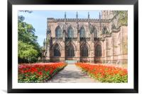 cathedral and gardens, Framed Mounted Print