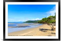 Beautiful day on the beach, Framed Mounted Print