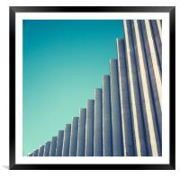 Abstract White Concrete Architecture, Framed Mounted Print