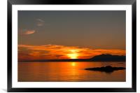 Sunset, Point of Sleat, Skye, Sea, Clouds, Framed Mounted Print