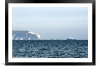 Needles on the Isle of Wight viewed from Mudeford, Framed Mounted Print