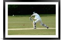 Cricket Batsman 4, Framed Mounted Print