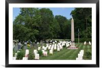 Anzac Cemetery in Harefield Churchyard, Framed Mounted Print