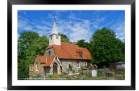 St Laurence Church Cowley Middlesex, Framed Mounted Print