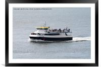 Plymouth Venturer on Plymouth Sound, Framed Mounted Print