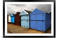 Highcliffe huts 2, Framed Mounted Print