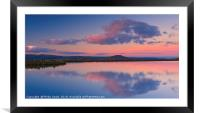 Keepers Pond and Sugarloaf at Sunset., Framed Mounted Print