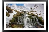 Cribyn in winter from the Nant Sere., Framed Mounted Print