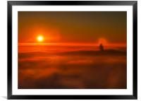 Sunrise over Hope Valley during an Inversion, Framed Mounted Print