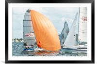 High School Children National Sailing Championship, Framed Mounted Print