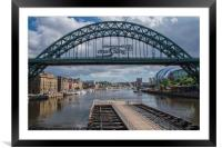 Summer day stroll down Newcastle Quayside, Framed Mounted Print