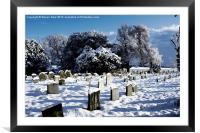 Hethersett Graveyard Winter, Framed Mounted Print
