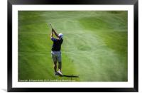 Man Playing Golf in the Algarve, Framed Mounted Print