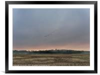 End of day Blakeney Freshes, Framed Mounted Print