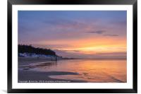 Sunset and tranquility at Wells next the Sea, Framed Mounted Print