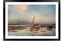 Peaceful end of Day  Digtal Art, Framed Mounted Print