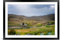 A rural View, Framed Mounted Print