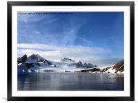 View from Red Rock Ridge, Antarctica, Framed Mounted Print