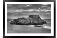 St Catherine's Island, Tenby, Pembrokeshire, South, Framed Mounted Print