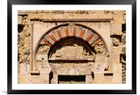 Detail facade of Mosque-Cathedral, Cordoba, Framed Mounted Print