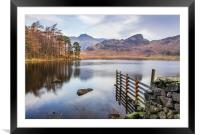 Blea Tarn and the Langdales, Framed Mounted Print