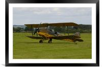 An old Tiger moth aeroplane, Framed Mounted Print