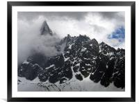 French alps, Framed Mounted Print