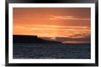 Sailing Into The Sunset, Framed Mounted Print