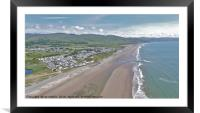 Barmouth Bay from above, Framed Mounted Print
