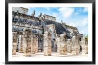 Temple of the Warriors, Framed Mounted Print