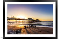 Sunrise Worthing Pier, Framed Mounted Print