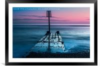Sunset in Goring by Sea, Framed Mounted Print