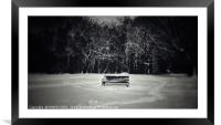 A Place to Sit in the Snow, Framed Mounted Print