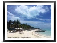 Isla Mujeres Beach in Mexico, Framed Mounted Print