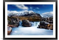Waterfall on the River Etive., Framed Mounted Print