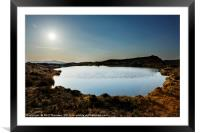 Sunset over Loch na Clarlaich to the Isle of Skye., Framed Mounted Print
