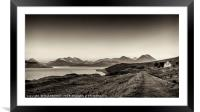 The Sound of Raasay and The Cuillin range., Framed Mounted Print