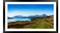 The Sound of Raasay and The Cuillin mountain range, Framed Mounted Print