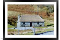 A cottage on the Isle of Skye, Framed Mounted Print
