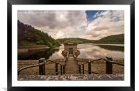 Down to the dam - Ladybower Reservoir, Framed Mounted Print
