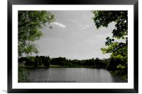A lake near Buscot, Oxfordshire, Framed Mounted Print