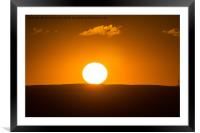 South Wales Sunset, Framed Mounted Print