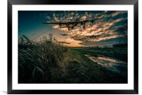 Three come Home, Framed Mounted Print