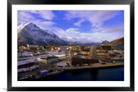 Andalsnes Norway, Framed Mounted Print