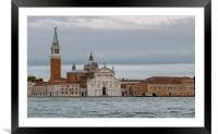 St Marks Venice painterly image oil effect, Framed Mounted Print